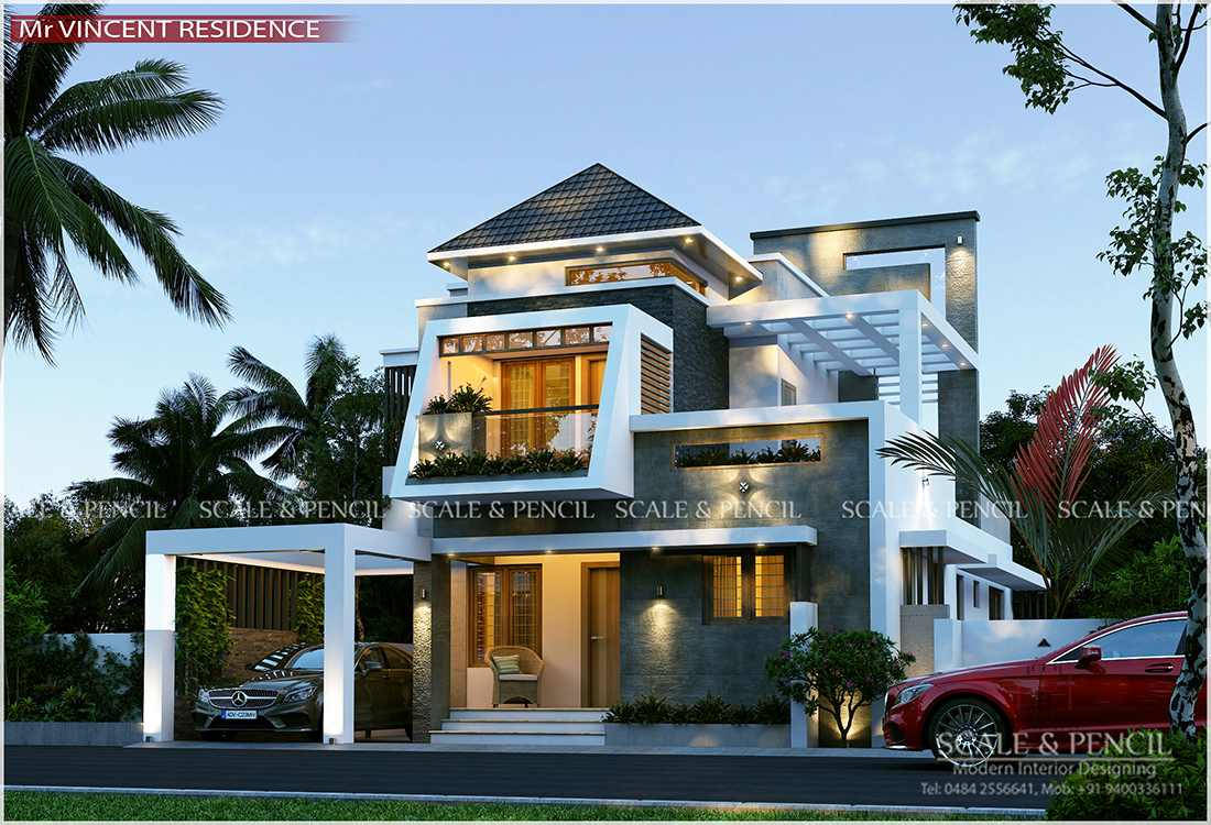 Contemporary Home Design In Kochi Ernakulam Kerala