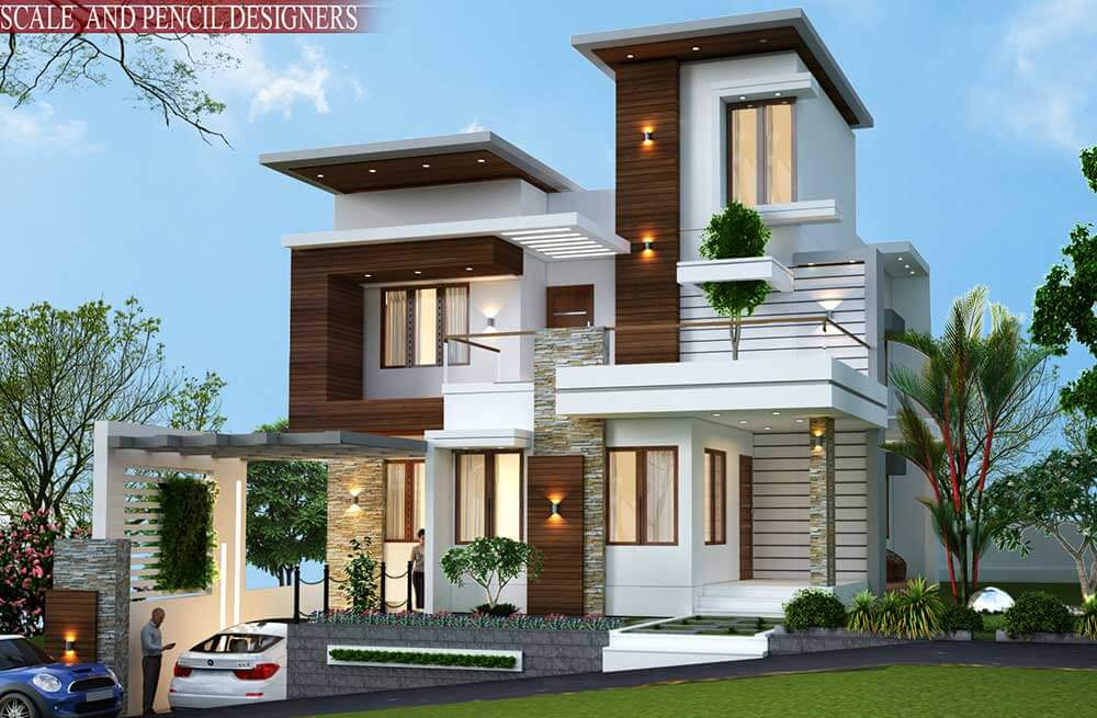 New Model House Design Ernakulam Kochi Modern Home Design
