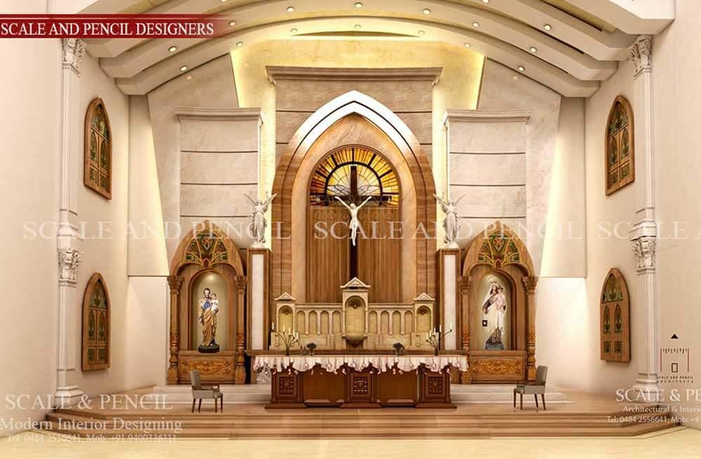 Church Interior Design In Kochi Edappally Ernakulam Kerala