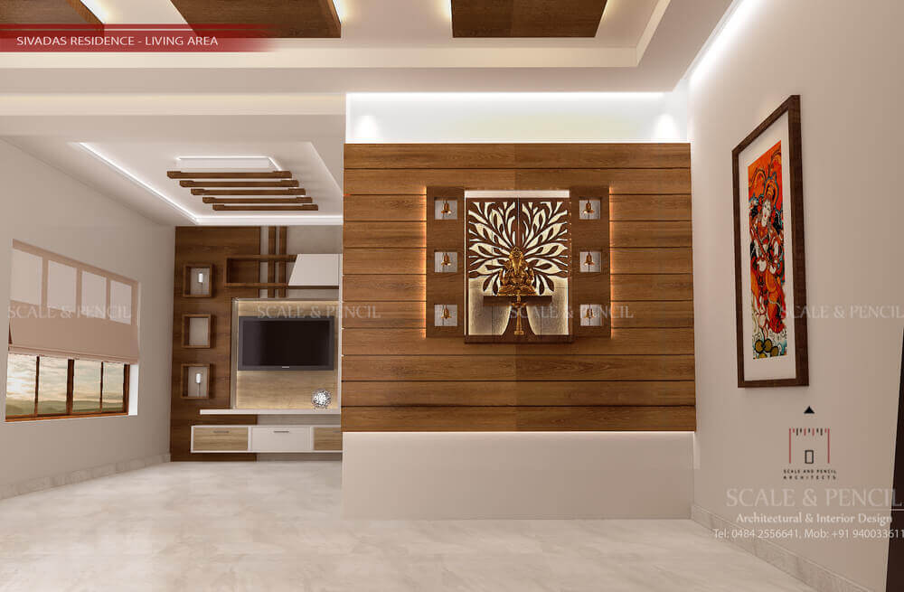 Living Area Living Room Interior Design Kochi Ernakulam Kerala
